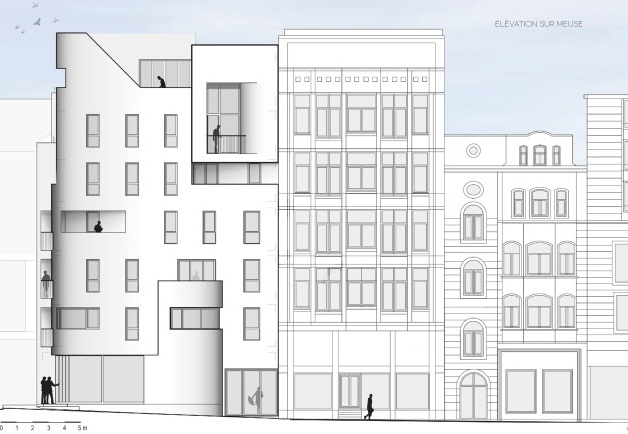 cabinet d 39 architectes immeuble nagelmakers. Black Bedroom Furniture Sets. Home Design Ideas